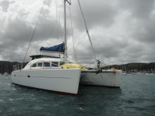 Lagoon 380 : At anchor in Martinique